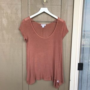 cotton on | extra small basic flowy taupe tee